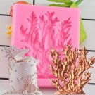 1 Pcs Tree Branch Sugarcraft Sea Coral Silicone Mold Fondant Mold Cake Decorating Mould
