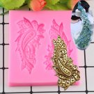 1 Pcs Sugarcraft Peacock Feather Silicone Mold Fondant Mold Cake Decorating Tools Chocolate Mould