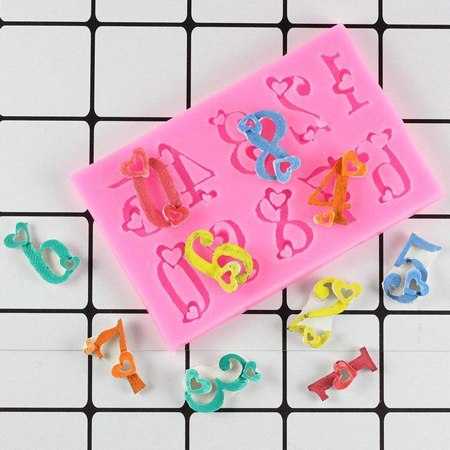 1 Pcs Numbers Silicone Mold 3D Fondant Mold Cakes Decorating Tools DIY Gumpaste Mould