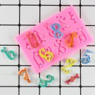 1 Pcs Numbers Silicone Mold 3D Fondant Mold Cakes Decorating Tools DIY Gumpaste Mould
