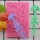 1 Pcs DIY Sugar Craft Cake Vintage Relief Border Silicone Mold Fondant Mold Cake Mould