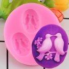 1 Pcs Sugar Craft Birds Silicone Mold Fondant Mold Cake Decorating Tools Chocolate Mould
