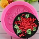 1 Pcs Small Peony Flower Shape Silicone Mold Fondant Chocolate Soap Mould Candy Cake Mould