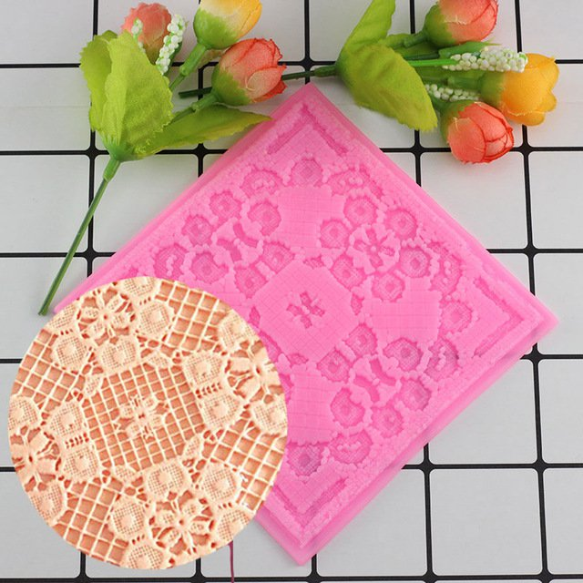 1 Pcs Flower Lace Mat DIY Silicone Mold For Cake Decorating Tools Baking Bakeware Silicone Mould