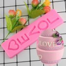 1 Pcs Love Letter Shaped Fondant Cake Silicone Molds DIY Aroma Gypsum Plaster Silicon Mould
