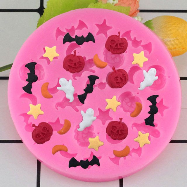 1 Pcs Halloween Pumpkin Shaped Silicone Mold Cake Decoration Fondant Cake 3D Food Mould
