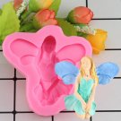 1 Pcs 3D Angel Girl Flower Fairy Silicone Mold Fondant Molds Cake Decorating For Cake Mould