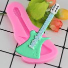 1 Pcs 3D Violin Silicone Mold Guitar Fondant Cake Decorating Tools Soap Chocolate Sugar Mould