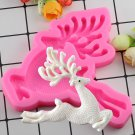 1 Pcs Christmas Deer Shaped Silicone Mold Cake Decoration Fondant 3D Road Board Silicone Mould
