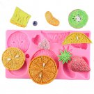 1 Pcs Fruit Strawberry Orange Shape Chocolate Party Cake Kiwi Fondant Silicone Mould