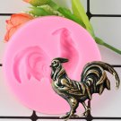 1 Pcs Cock Chicken Shape Fondant Silicone Mold Polymer Clay Moulds Sugarpaste Candy Mould
