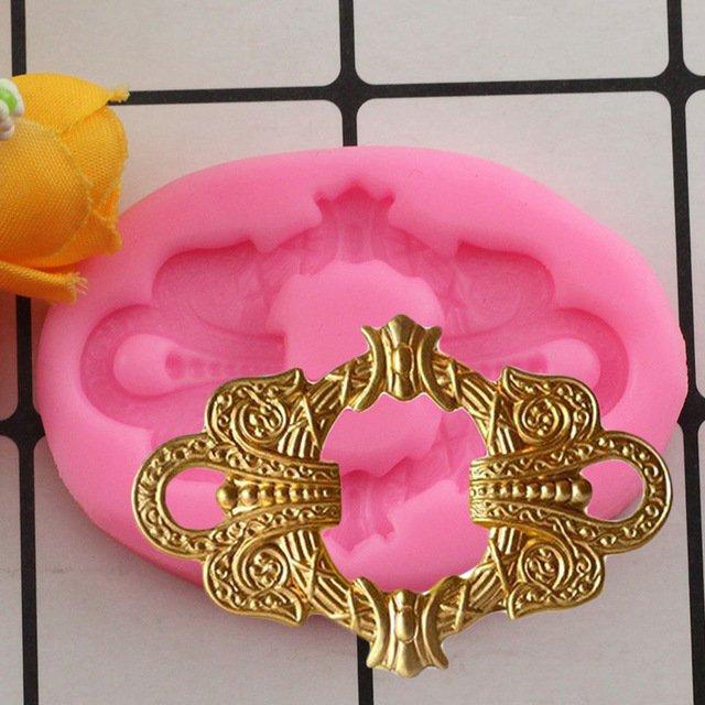 1 Pcs DIY Sugar Craft Fashion Belt Buckle Fondant Cake Decorating Tools Cake Silicone Baking Mould