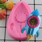 1 Pcs 3D Baby Rocket Shape Silicone Mold Space Ship Birthday Party Fondant Cake Decorating Mould