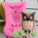 1 Pcs 3D Owl Cake Decorative Silicone Mold Candy Chocolate Fudge DIY Baking Mold Soap Mould