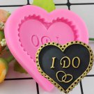 1 Pcs Wedding Love Heart Shape Silicone Mould Cake Decoration Tools Baking Fondant Moulds