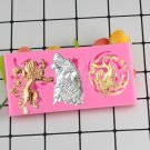 1 Pcs Cartoon Wolf Lion Candy Chocolate Jelly Mold Game Of Thrones Family Badges Silicone Moulds