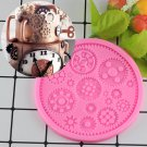 1 Pcs Steampunk Gears Confeitaria Silicone Mold Fondant Cake Molds Cupcake Moulds