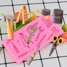 1 Pcs Hardware Tools Scissor Ladder Hammer Shape Silicone Cake Mold DIY Chocolate Moulds