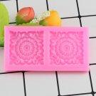1 Pcs 3D Square Scrolls Baroque Corner Silicone Mold Lace Mat Cake Border Fondant Moulds