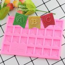 1 Pcs 3D Silicone Flag Capital Letters Shape Cake Molds Alphabet Chocolate Cookie Candy Moulds