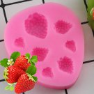 1 Pcs Strawberry Chocolate Silicone Molds Cupcake Fondant Cake Decorating Moulds