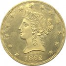 1 Pcs US 1862 Liberty Ten Dollars Head Eagle Without Motto Gold Copy Coins