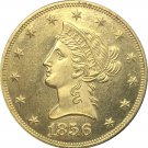 1 Pcs US 1856 Liberty Ten Dollars Head Eagle Without Motto Gold Copy Coins