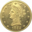 1 Pcs US 1855-S Liberty Ten Dollars Head Eagle Without Motto Gold Copy Coins