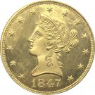 1 Pcs US 1847-O Liberty Ten Dollars Head Eagle Without Motto Gold Copy Coins