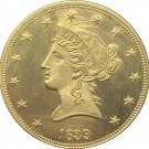 1 Pcs US 1839 Liberty Ten Dollars Head Eagle Without Motto Gold Copy Coins