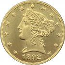 1 Pcs US 1892-S Liberty Head Five Dollars Motto Above Eagle In God We Trust Gold Copy Coins