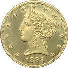 1 Pcs US 1899-S Liberty Head Five Dollars Motto Above Eagle In God We Trust Gold Copy Coins