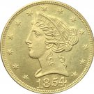 1 Pcs US 1854-S Liberty Head Five Dollars Motto Above Eagle In God We Trust Gold Copy Coins