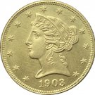 1 Pcs US 1903-S Liberty Head Five Dollars Motto Above Eagle In God We Trust Gold Copy Coins