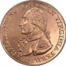 1 Pcs US 1792 Undated Washington Born Virginia Red Copper Copy Coin
