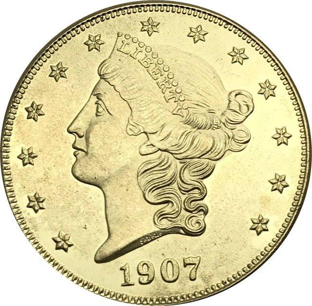 1 Pcs US 1907-S Liberty Twenty Dollars In God We Trust Gold Copy Coins