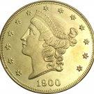 1 Pcs US 1900 Liberty Twenty Dollars In God We Trust Gold Copy Coins