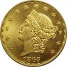 1 Pcs US 1865 Liberty Head Twenty Dollars Gold Copy Coins