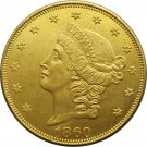 1 Pcs US 1860 Liberty Head Twenty Dollars Gold Copy Coins