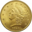 1 Pcs US 1858 Liberty Head Twenty Dollars Gold Copy Coins