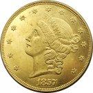 1 Pcs US 1857 Liberty Head Twenty Dollars Gold Copy Coins