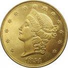 1 Pcs US 1854 Liberty Head Twenty Dollars Gold Copy Coins