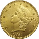 1 Pcs US 1851 Liberty Head Twenty Dollars Gold Copy Coins