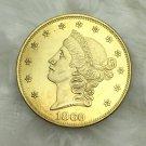 1 Pcs US 1860 Liberty Head Twenty Dollars Gold Copy Coins