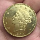 1 Pcs US 1859 Liberty Head Twenty Dollars Gold Copy Coins