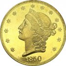 1 Pcs US 1850 Liberty Head Twenty Dollars Gold Copy Coins