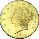 1 Pcs US 1849 Liberty Head Twenty Dollars Gold Copy Coins