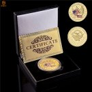 1777 USA Betsy Ross Flag Birth Of Old Glory Historical Gold Plated Challenge Coin With Box