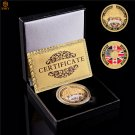 WWII 1944 D-Day Normandy War 70th Anniversary Gold Military Challenge Coin With Box