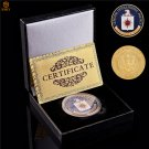 USA CIA Central Intelligence Agency American Free Eagle Gold Plated Military Challenge Coin With Box